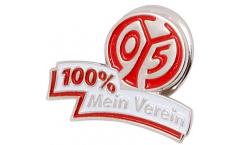 Pin 1. FSV Mainz 05 100 % Mein Verein - 1.5 x 2.5 cm