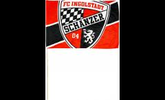 Stockflagge FC Ingolstadt 04 Logo - 30 x 45 cm