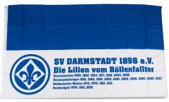 Hissflagge SV Darmstadt 98 Erfolge - 90 x 150 cm