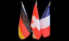 3 Ständer Stockflagge 30 x 45 cm