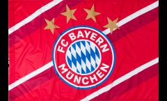 Flagge FC Bayern München Stripes - 100 x 150 cm