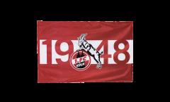 Flagge mit Hohlsaum 1. FC Köln 1948 - 100 x 150 cm
