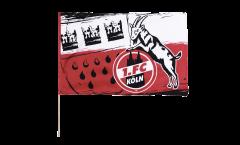 Stockflagge 1. FC Köln Wappen - 60 x 90 cm