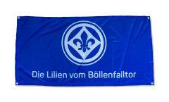 Zimmerflagge SV Darmstadt 98 Die Lilien vom Böllenfalltor  - 70 x 140 cm