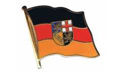 Flaggen-Pin Deutschland Saarland - 2 x 2 cm