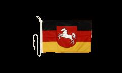 Bootsfahne Deutschland Niedersachsen - 30 x 40 cm