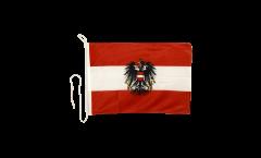 Bootsfahne Österreich mit Adler - 30 x 40 cm