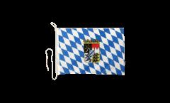 Bootsfahne Deutschland Bayern mit Wappen - 30 x 40 cm