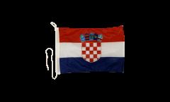 Bootsfahne Kroatien - 30 x 40 cm