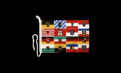 Bootsfahne Deutschland 16 Bundesländer - 30 x 40 cm