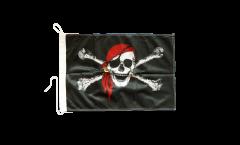 Bootsfahne Pirat mit Kopftuch - 30 x 40 cm