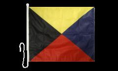 Signalflagge Zulu (Z) - 75 x 90 cm