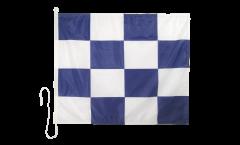 Signalflagge November (N) - 75 x 90 cm