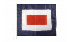 Signalflagge Whiskey (W) - 75 x 90 cm