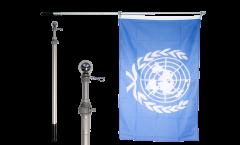 Teleskop-Schwenkstange für Flaggen, max. Länge 180 cm, alueloxiert