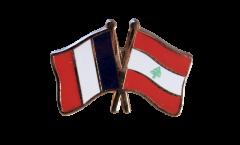 Freundschaftspin Frankreich - Libanon - 22 mm