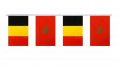 Freundschaftskette Belgien - Marokko - 15 x 22 cm