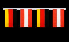 Freundschaftskette Deutschland - Österreich - 15 x 22 cm