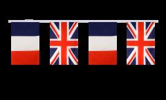 Freundschaftskette Frankreich - Großbritannien - 15 x 22 cm