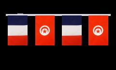 Freundschaftskette Frankreich - Tunesien - 15 x 22 cm