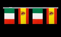 Freundschaftskette Italien - Spanien - 15 x 22 cm