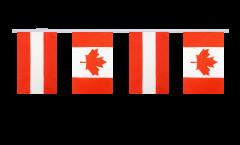Freundschaftskette Österreich - Kanada - 15 x 22 cm
