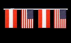 Freundschaftskette Österreich - USA - 15 x 22 cm