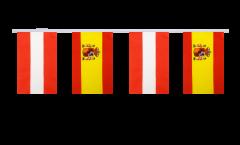 Freundschaftskette Österreich - Spanien - 15 x 22 cm