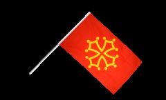 Stockflagge Frankreich Midi-Pyrenées - 60 x 90 cm