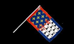 Stockflagge Frankreich Pays de la Loire - 60 x 90 cm