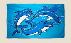 Flagge Delphin Delfin 2 - 90 x 150 cm