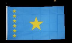 Flagge Demokratische Republik Kongo alt