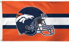 Flagge Denver Broncos Helmet