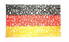 Flagge Fanflagge Deutschland Nationalhymne - 90 x 150 cm