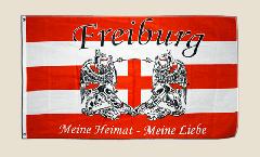 Flagge Fanflagge Freiburg Meine Heimat - meine Liebe