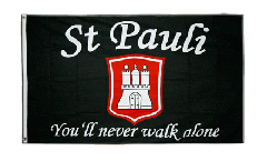 Flagge Fanflagge St. Pauli - You'll never walk alone