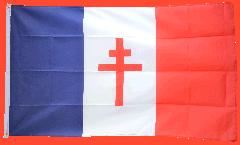 Flagge Frankreich mit Lothringerkreuz