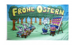 Flagge Frohe Ostern Hasenschule