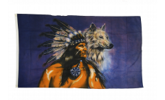 Flagge Indianer Wolf
