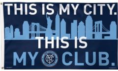 Flagge MLS New York City FC - 90 x 150 cm