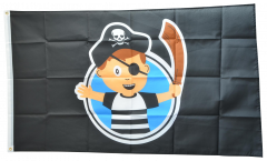 Flagge Pirat Junge - 90 x 150 cm