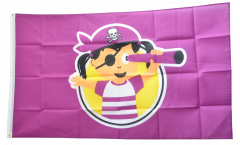 Flagge Pirat Mädchen - 90 x 150 cm
