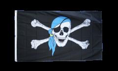 Flagge Pirat mit blauem Kopftuch - 90 x 150 cm