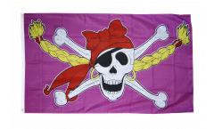 Flagge Pirat Pirate Princess Prinzessin 2 - 90 x 150 cm