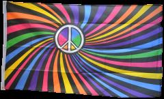 Flagge Regenbogen Peace Swirl - 90 x 150 cm