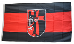 Flagge Sudetenland mit Wappen