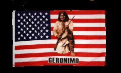 Flagge USA Indianer mit Gewehr - 90 x 150 cm