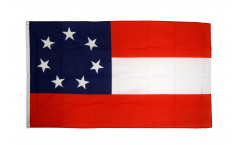 Flagge USA Südstaaten Stars and Bars 1861 - 90 x 150 cm