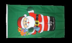 Flagge Weihnachtsmann mit Geschenken