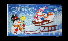 Flagge Winter mit Schneemann